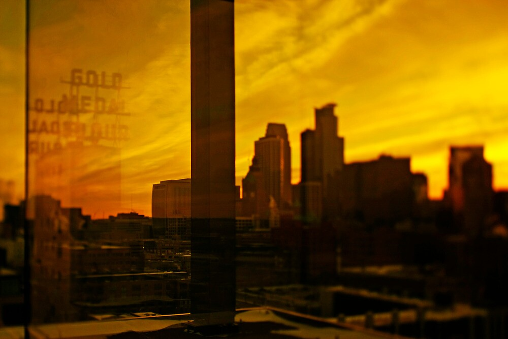golden minneapolis skyline . minnesota by sara montour