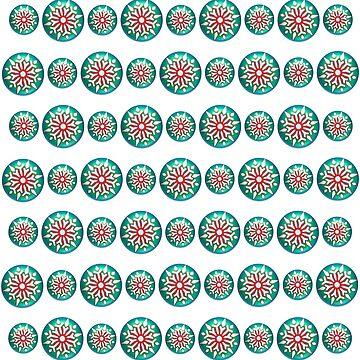 Winter Snowflake Polka Dots by Craftvolphan