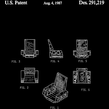 The Lego Patent Of Technic Seat 3 x 2 Base In White Version by mecanolego