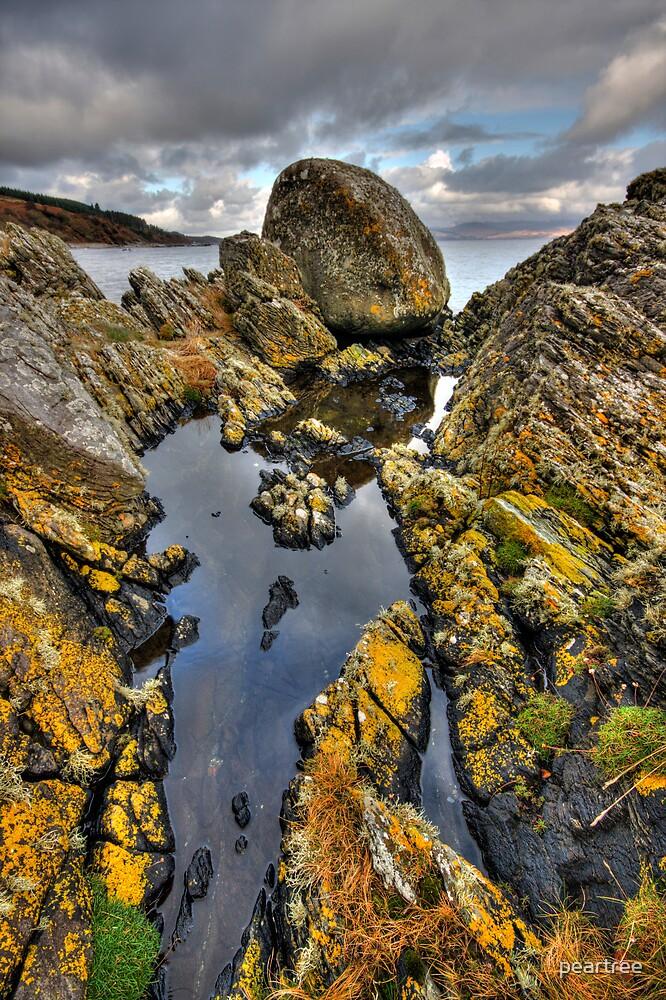 Rock Formations near Allt Falbea by peartree