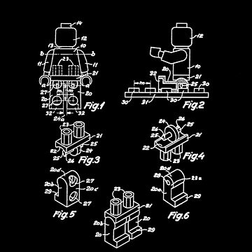 The Lego Patent Of Minifigurine In White Version by mecanolego