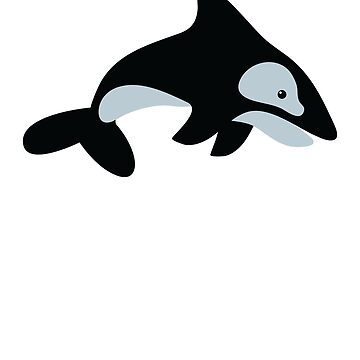 simple killer whale by jazzydevil