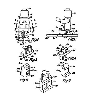 The Lego Patent Of Minifigurine In Black Version by mecanolego