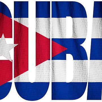 Cuba Flag Typography Souvenir by peter2art