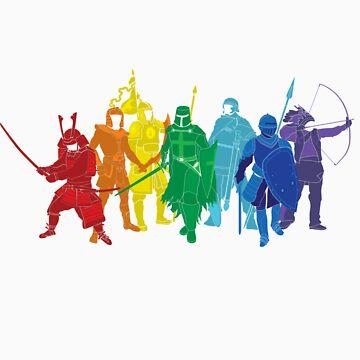 Warriors (Rainbow) by satorenalin