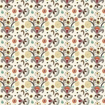 Wired Flower Pattern by Antepara