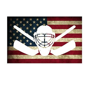 Awesome Patriotic USA Flag Hockey by perfectpresents