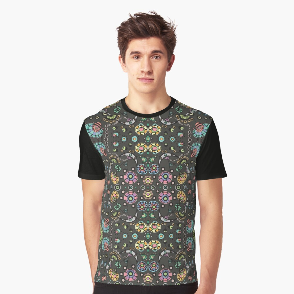 Funky Bloom Graphic T-Shirt Front