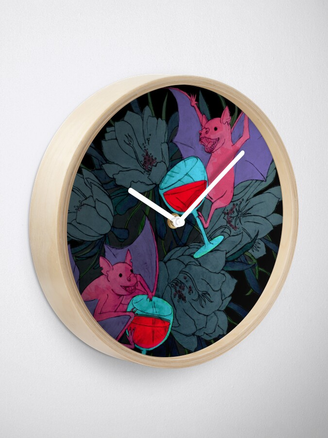 Alternate view of party bats Clock