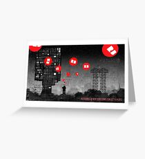 Red Bubble Poster !  Greeting Card