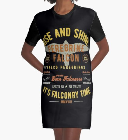 It's falconry Time! Peregrine Falcon Gift nad Apparel Collection for the Peregrine Falconer and Hawker Graphic T-Shirt Dress