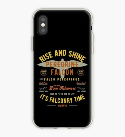 It's falconry Time! Peregrine Falcon Gift nad Apparel Collection for the Peregrine Falconer and Hawker iPhone Case