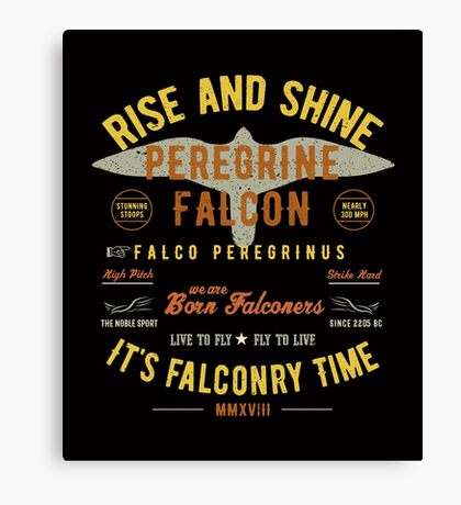 It's falconry Time! Peregrine Falcon Gift nad Apparel Collection for the Peregrine Falconer and Hawker Canvas Print