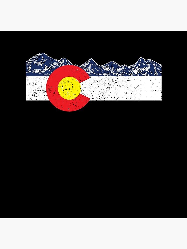 Colorado-Flaggen-Gebirgsgeschenk-Ferien-Colorado-Tag Denver von modernmerch