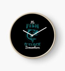 Funny Fishing Gift Fish O Clock Fisherman Fathers Day Clock