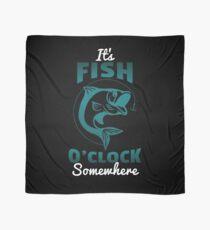 Funny Fishing Gift Fish O Clock Fisherman Fathers Day Scarf