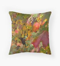 Trees Along The Trail 4137 Throw Pillow