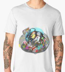 Camiseta premium para hombre Rick y la nave espacial Morty