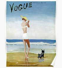 VOGUE : Vintage 1937 Magazine Advertising Print Poster