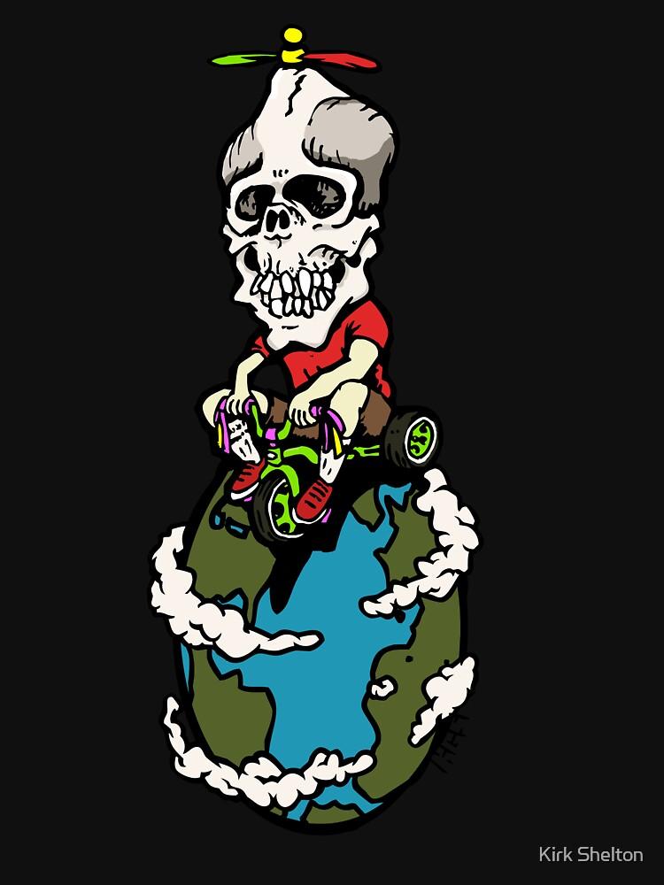 Skull on Wheels by kirksucks