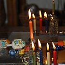 Hanuka Candles by Deborah Singer