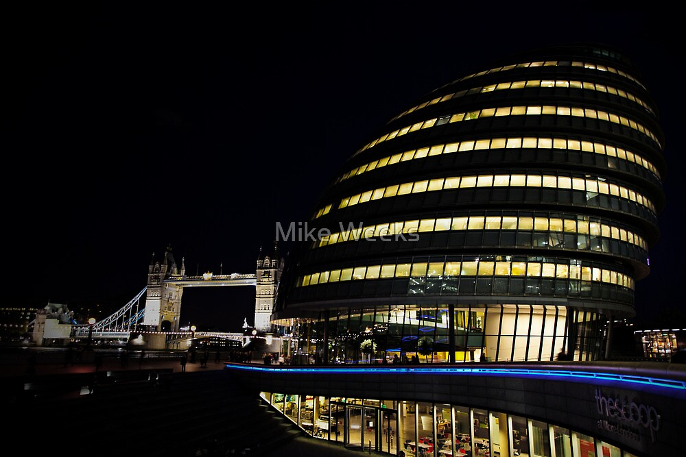 City Hall By Night by Mike Weeks