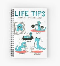 Life Tips From An Optimistic Otter Spiral Notebook