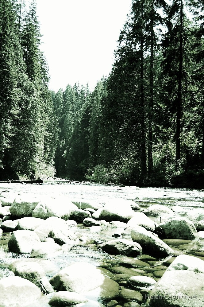 Tumbling river by Helen Carmichael