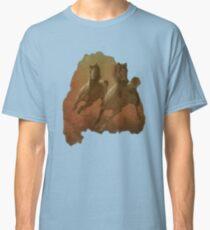Camiseta clásica Camisa galopando de los caballos