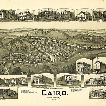 Aerial View of Cairo, West Virginia (1899) by allhistory