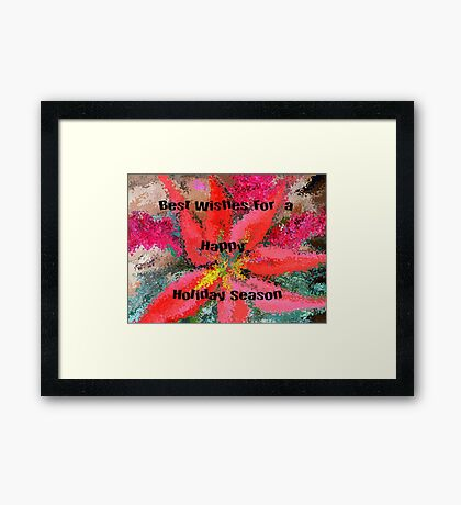 Happy Holidays..Christmas Card Framed Print
