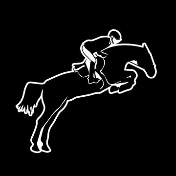 'English Riding Hunter' Cool Riding Horse Jamper Girl Gift by leyogi
