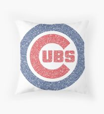 Chicago Cubs Typography Logo Throw Pillow