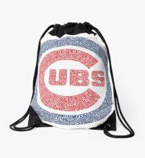 Chicago Cubs Typography Logo Drawstring Bag