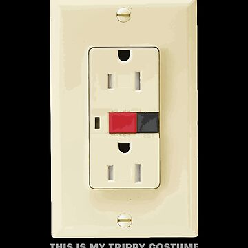 Electrical Outlet GFCI Trippy Halloween Costume by zot717
