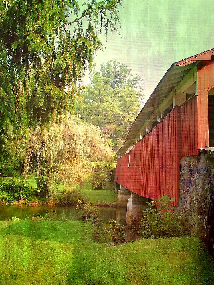 Bogerts covered bridge..... by DaveHrusecky