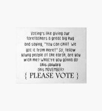 Vote, dude! Art Board