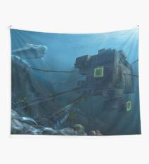 Subnautica Alien Base - Indie Game Wall Tapestry