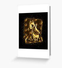 Cat food golden Gold Greeting Card