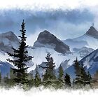 Mystic Three Sisters Mountains - Canadian Rockies  by NaturePrints
