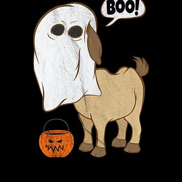 Funny Halloween Goat Ghost Costume Cute Boo Goat Jack o lantern Bucket by zot717