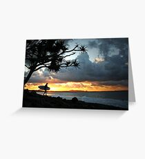 A stormy Noosa sunset Greeting Card