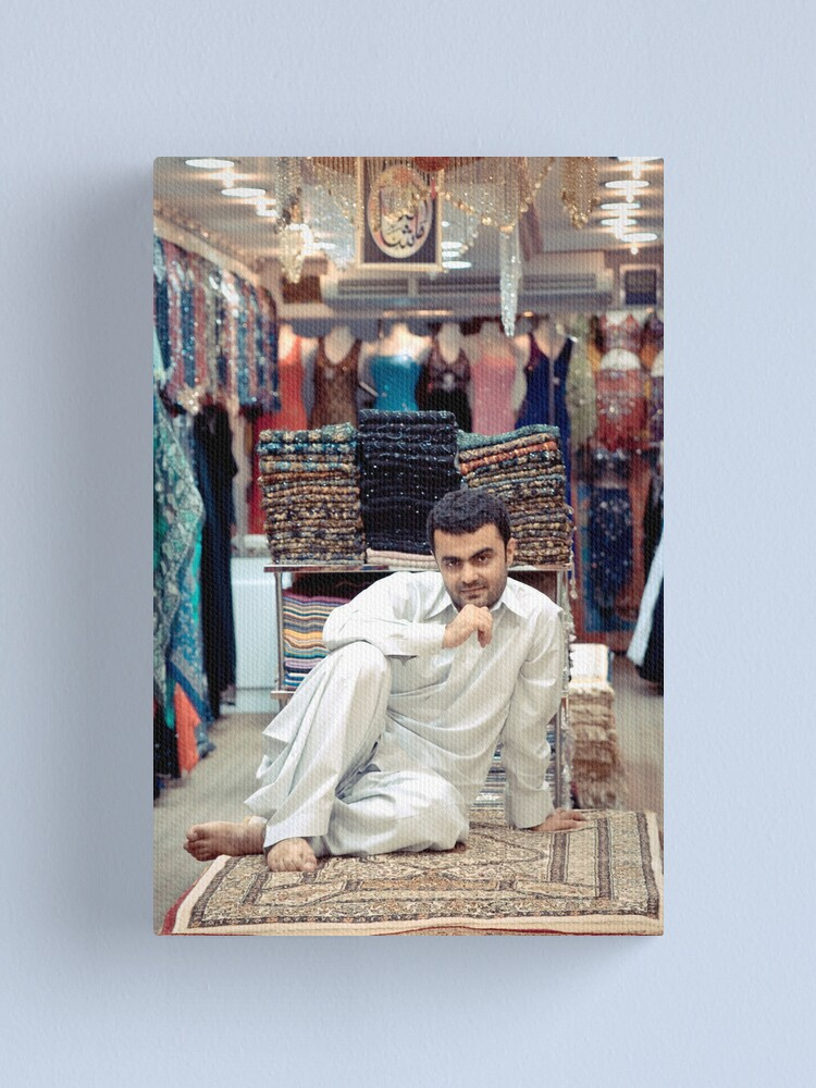 Alternate view of The carpet shopkeeper Canvas Print