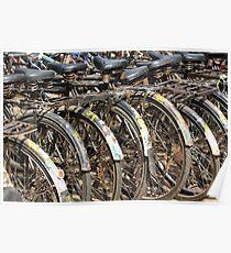Commuter Bicycles, Mumbai, India Poster