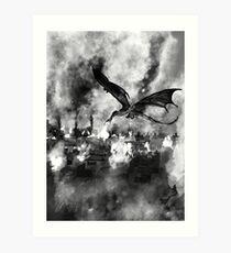 Inktober Day 19: Scorched Art Print