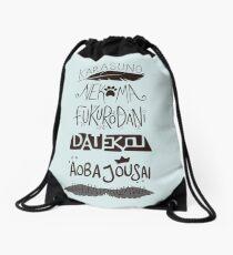 Haikyuu!! Teams - Black Drawstring Bag