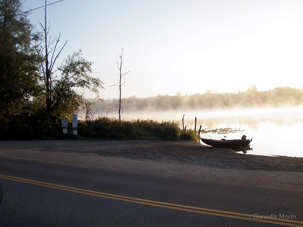 Foggy Lake Cassidy Morning by Danielle Morin