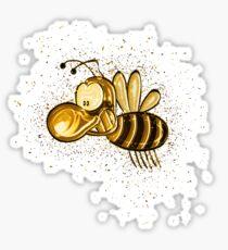 Bee honey golden Gold Sticker