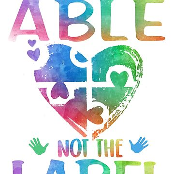 002 - SEE THE ABLE by awesome-tshirts