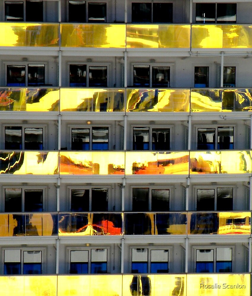 Cruise Ship Balcony Reflections by Rosalie Scanlon